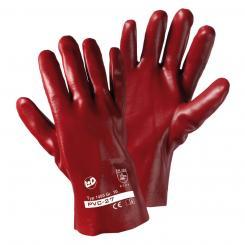PVC-27 PVC-Handschuh rotbraun