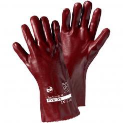 PVC-35 PVC-Handschuh rotbraun