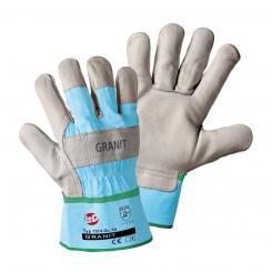 Granit Rindnarbenleder-Handschuh