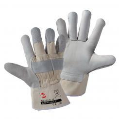 Asphalt Rindnarbenleder-Handschuh